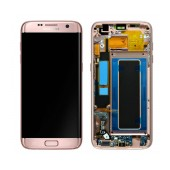 Original LCD & Digitizer Samsung SM-G935F Galaxy S7 Edge Rose Gold with Frame and Charging Connector GH97-18533E
