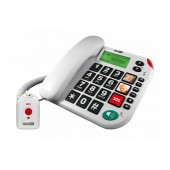 Telephone Maxcom KXT481 SOS White with Lcd, Incoming Ringing Led Indicator and Big Buttons