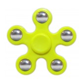 Fidget Spinner ABS Plastic 5 Leaves Yellow 2.5 min
