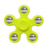 Fidget Spinner ABS Plastic 5 Leaves Yellow 2.5 min