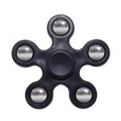 Fidget Spinner ABS Plastic 5 Leaves Black 2.5 min