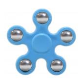 Fidget Spinner ABS Plastic 5 Leaves Blue 2.5 min