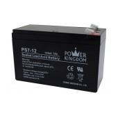 Battery for UPS Power Kingdom PS7-12 (12V 7.0 Ah)  2 kg 151mm x 65mm x 95mm
