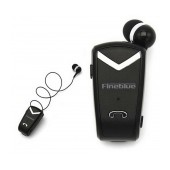 Bluetooth hands free Fineblue F-V2 Black with Bluetooth 4.0 Version, Expanded Receiver, and Charging Cable