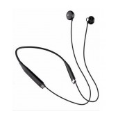 Bluetooth hands free Fineblue FM-500 NFC Neck Band Magnetic Earbuds Black with Bluetooth 4.0 Version, Motor, and Charging Cable