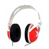 Star Foldable Stereo Headphone Red