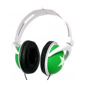 Star Foldable Stereo Headphone 3.5 mm Green for mp3, mp4 and Sound Devices Polybag