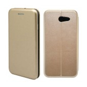 Book Case Ancus Magnetic Curve for Samsung SM-J327 Galaxy J3 Emerge TPU Gold