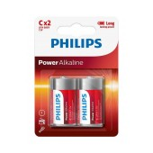 Battery Power Alkaline Philips LR14 size C 1.5 V Psc. 2