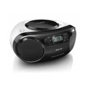 Philips USB MP3-CD Soundmachine AZ330T/12 4W Black with Bluetooth, USB Port and Audio-in