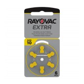 Hearing Aid Batteries Rayovac 10 Extra Advanced 1.45V Pcs. 6