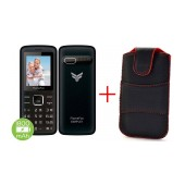 FlameFox Simple1 (Dual Sim) with Bluetooth, Camera, FM Radio, Led Torch GR + Case