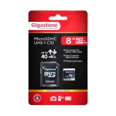 Flash Memory Card Gigastone MicroSDHC UHS-1 8GB C10 Professional Series with Adapter up to 40 MB/s*