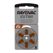 Hearing Aid Batteries Rayovac 312 Extra Advanced 1.45V Pcs. 6