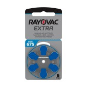 Hearing Aid Batteries Rayovac 675 Extra Advanced 1.45V Pcs. 6