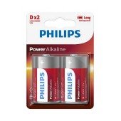 Battery Power Alkaline Philips LR20 size D 1.5 V Psc. 2
