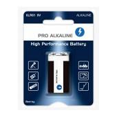 Battery Pro Alkaline 6LR61 size 9V Psc. 1