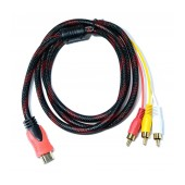 Audio - VIdeo Rugged Cable Jasper HDMI 1.4 Male to 3 x RCA M/M 1.5m