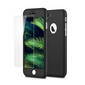 360 Protect Case Ancus for Apple iPhone 8 Black with Tempered Glass Screen Protector 0.20mm