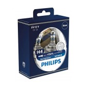 Headlight Bulb Philips H4 RacingVision 12V, 60/55W, +150% More Vision 2 Pcs