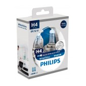 Headlight Bulb Philips H4 WhiteVision 12V, 60/55W, +60% More Vision + W5W x 2 Set 2 Pcs