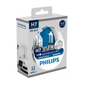 Headlight Bulb Philips H7 WhiteVision 12V, 55W, +60% More Vision + W5W x 2 Set 2 Pcs