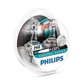 Headlight Bulb Philips H4 X-tremeVision 12V, 60/55W, +130% More Vision Set 2 Pcs