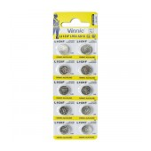 Buttoncell Vinnic LR1131 AG10 LR54 Pcs. 10 with Perferated Packaging