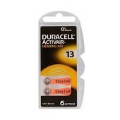 Hearing Aid Batteries Duracell 13 Activair 1,45V Pcs. 6