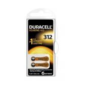 Hearing Aid Batteries Duracell 312 Activair 1,45V Pcs. 6