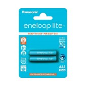 Rechargeable Battery Panasonic eneloop lite BK-4LCCE/2BE 550 mAh size AAA Ni-MH 1.2V Τεμ. 2