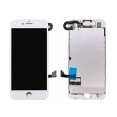 LCD & Digitizer Apple iPhone 7 with Front Camera, Receiver and Metal LCD Frame White Type A