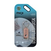 USB 2.0 MIQI Flash Drive X6 16GB Rose Gold Metal