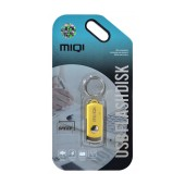 USB 2.0 MIQI Flash Drive X6 8GB Gold Metal