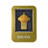 USB 2.0 MIQI Flash Drive M1 4GB Gold Metal