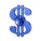Fidget Spinner Aluminum Dollar Blue 3 min
