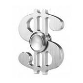 Fidget Spinner Aluminum Dollar Silver 3 min