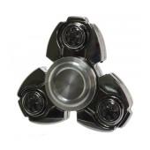 Fidget Spinner Titanium Alloy Russia CKF Spiral 3 Leaves Silver 3 min