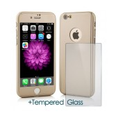 360 Protect Case Ancus for Apple iPhone 8 Gold with Tempered Glass Screen Protector 0.20mm