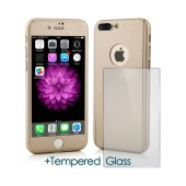 360 Protect Case Ancus for Apple iPhone 8 Plus Gold with Tempered Glass 0.20mm
