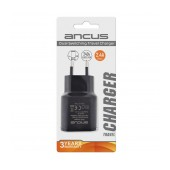 Travel Charger Ancus Dual Usb 2400 mAh Switching 5V Black