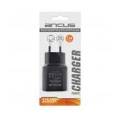 Travel Charger Ancus Dual Usb 2400 mAh Switching 5V Black
