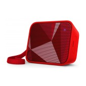 Wireless Portable Speaker Philips Pixel Pop BT110R/00 4W Sweat-Proof IPX4 Red with Speakerphone and 3.5mm Audio-in Connector