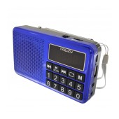 Portable FM Radio Noozy S24 3W Blue with USB Port, MMC, Audio-in and Rechargable Battery