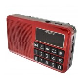 Portable FM Radio Noozy S24 3W Red with USB Port, MMC, Audio-in and Rechargable Battery