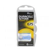 Hearing Aid Batteries Duracell 675 Activair 1,45V Pcs. 6
