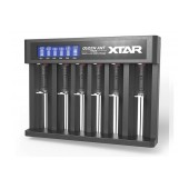 Industrial Type Battery Charger Xtar Queen Ant MC6 USB, 6 Positions with Power Display for 18650/17670/17500