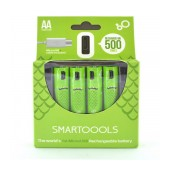 Micro USB Rechargeable Battery Smartoools 1000 mAh size AA Ni-MH 1.2V Pcs. 4