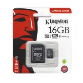 Flash Memory Card Kingston MicroSDHC 16GB UHS-1 Class 10 with SD Adapter