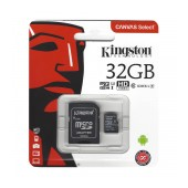Flash Memory Card Kingston MicroSDHC 32GB UHS-1 Class 10 with SD Adapter